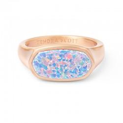 Mel Lavender Opal Rose Tone Ring Size 8