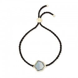 Vanessa Steel Gray Ombre Corded Gold Tone Bracelet