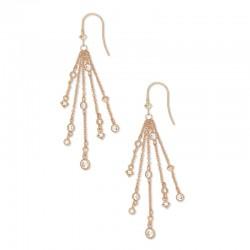 Wilma Cz Rose Tone Earrings
