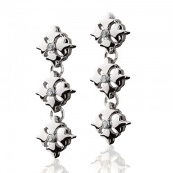 Logo Link Earrings From The Signature Collection