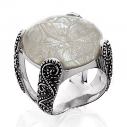 Samantha Split Band Ring From The Mother Of Pearl Collection