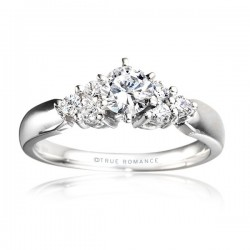 Me278-14k White Gold Semi Mount Engagement Ring From Nostalgic Collection