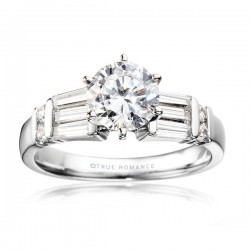 Me361-14k White Gold Semi Mount Engagement Ring From Nostalgic Collection