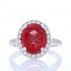 18Kt White Gold Spinel Gemstone Ring