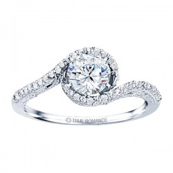 Rm1159-14k White Gold Vintage Semi Mount Engagement Ring