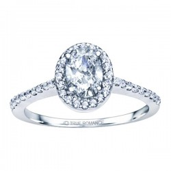 Rm1301v-14k White Gold Oval Cut Halo Diamond Semi Mount Engagement Ring