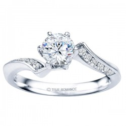 Rm1349-14k White Gold Classic Engagement Ring