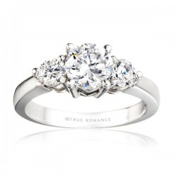 Rm240-14k White Gold Semi Mount Engagement Ring From Nostalgic Collection