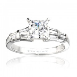 Rm380tt-14k White Gold Semi Mount Engagement Ring From Nostalgic Collection