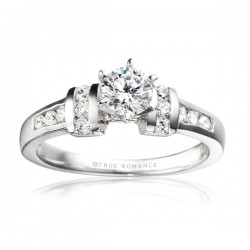 Rm402-14k White Gold Semi Mount Engagement Ring From Nostalgic Collection