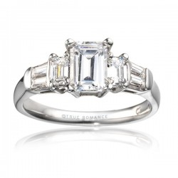 Rm456-14k White Gold Semi Mount Engagement Ring From Nostalgic Collection