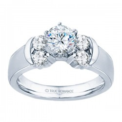 Rm464-14k White Gold Semi Mount Engagement Ring From Nostalgic Collection