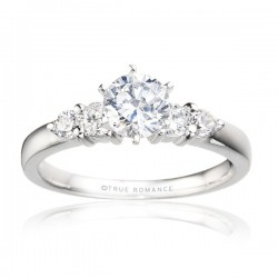 Rm495-14k White Gold Semi Mount Engagement Ring From Nostalgic Collection
