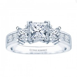 Rm500-14k White Gold Semi Mount Engagement Ring From Nostalgic Collection