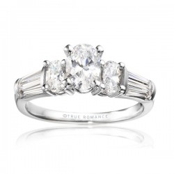 Rm510-14k White Gold Semi Mount Engagement Ring From Nostalgic Collection