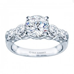 Rm993-14k White Gold Classic Semi Mount Engagement Ring