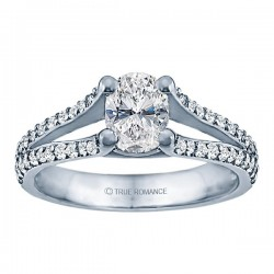Rm999v-14k White Gold Classic Engagement Ring