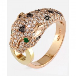 EFFY 14K Yel/Pnk Gld Diamond Black Diamond Natural Emerald Ring