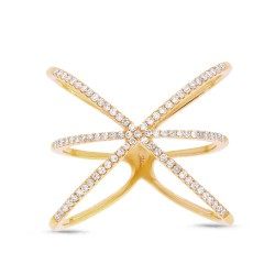 0.28ct 14k Yellow Gold Diamond Lady