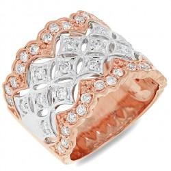 0.83ct 18k Two-tone Rose Gold Diamond Lady