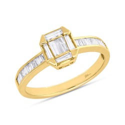 0.53ct 18k Yellow Gold Diamond Baguette Lady