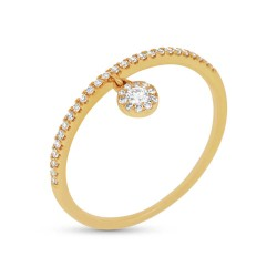0.16ct 14k Yellow Gold Diamond Lady