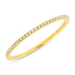 Maddison E 0.10ct 14k Yellow Gold Diamond Lady