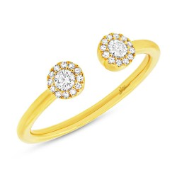 0.23ct 14k Yellow Gold Diamond Lady
