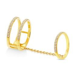 Maddison E 0.42ct 14k Yellow Gold Diamond Lady