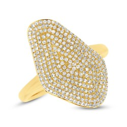0.63ct 14k Yellow Gold Diamond Pave Lady