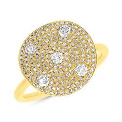 0.68ct 14k Yellow Gold Diamond Lady