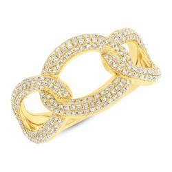 0.55ct 14k Yellow Gold Diamond Lady