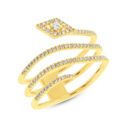 0.28ct 14k Yellow Gold Diamond Lady