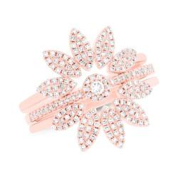 0.49ct 14k Rose Gold Diamond Lady