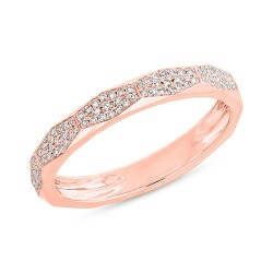 0.17ct 14k Rose Gold Diamond Pave Lady