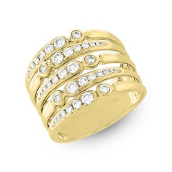 0.75ct 14k Yellow Gold Diamond Lady