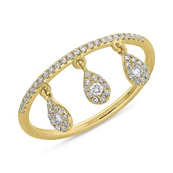 0.20ct 14k Yellow Gold Diamond Lady