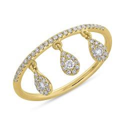 0.20ct 14k Yellow Gold Diamond Lady