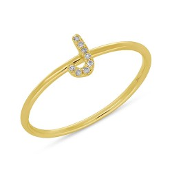 0.03ct 14k Yellow Gold Diamond Lady