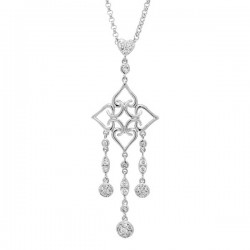 Madison E 0.67ct 18k White Gold Diamond Necklace