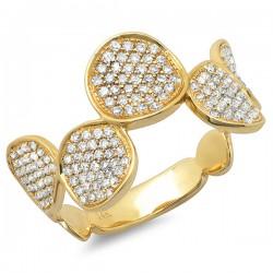 Madison E 0.47ct 14k Yellow Gold Diamond Lady