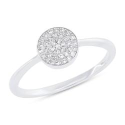 Madison E 0.11ct 14k White Gold Diamond Pave Lady