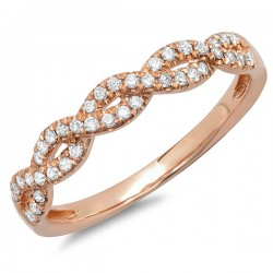 Madison E 0.22ct 14k Rose Gold Diamond Lady