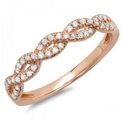 Madison E 0.22ct 14k Rose Gold Diamond Lady