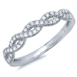 Madison E 0.22ct 14k White Gold Diamond Lady