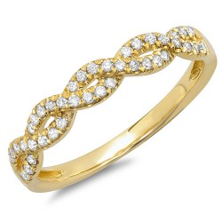 Madison E 0.22ct 14k Yellow Gold Diamond Lady