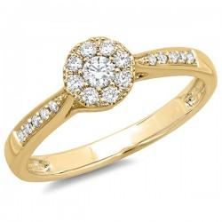 Madison E 0.24ct 14k Yellow Gold Diamond Lady