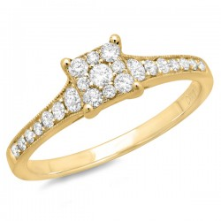 Madison E 0.40ct 14k Yellow Gold Diamond Lady