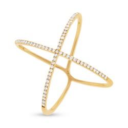 Madison E 0.18ct 14k Yellow Gold Diamond Lady