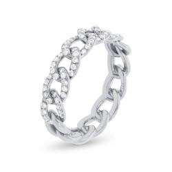 Madison E 0.41ct 14k White Gold Diamond Chain Ring